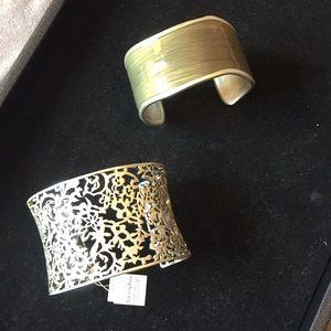 Lot of 2 lia sophia Cuff Bracelets